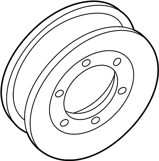 1994 Land Rover Discovery Engine Water Pump Pulley. Outer