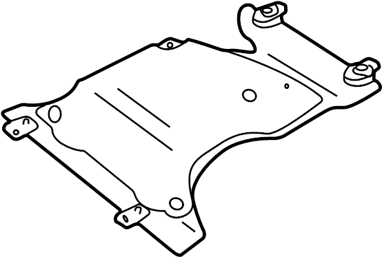 2003 Land Rover Discovery Powertrain Skid Plate. SHIELD