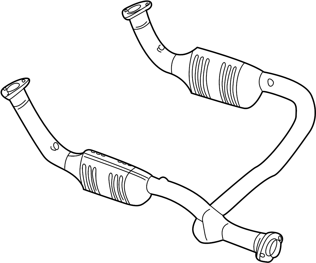 2004 Land Rover Discovery Catalytic Converter (Front
