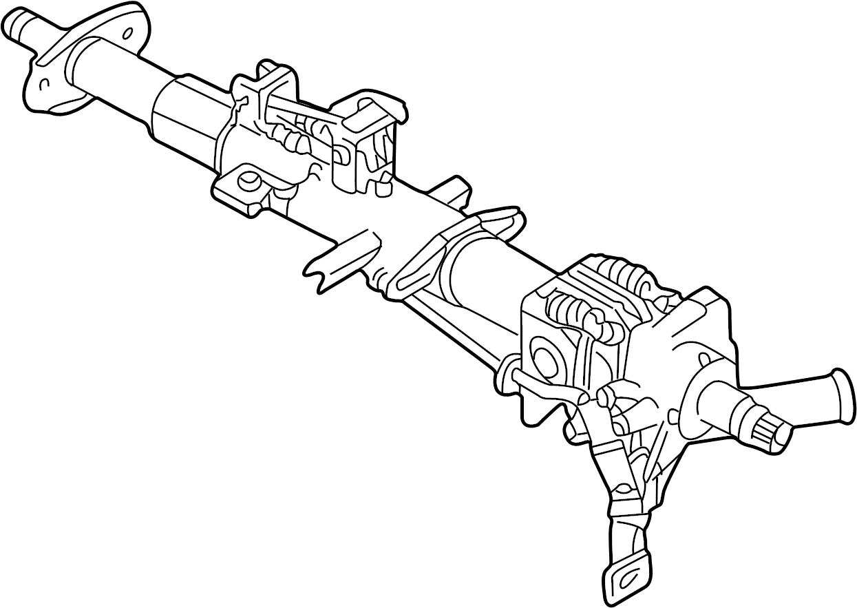2001 Land Rover Discovery Column ASSEMBLY. STEERING COLUMN