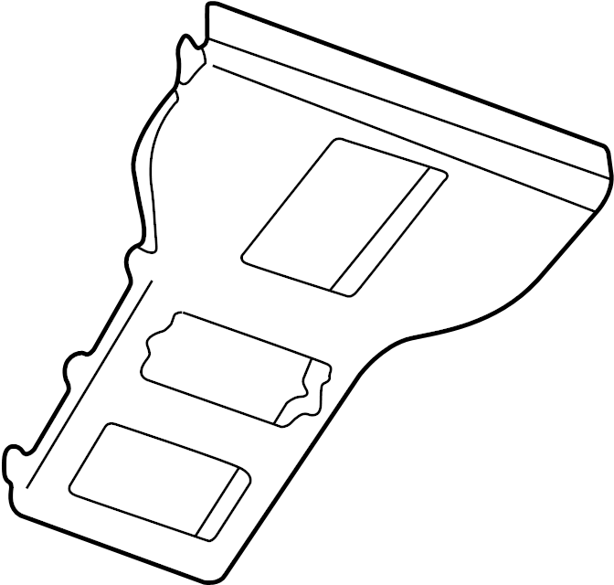 1995 Land Rover Discovery Console Trim Panel (Rear). REAR