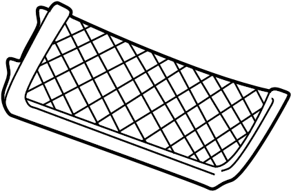 2002 Land Rover Discovery Cargo Net. Front & rear. Front