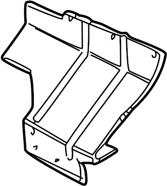 1999 Land Rover Discovery Mud Flap Bracket. Mud guard