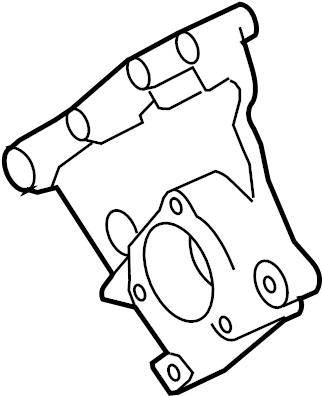 2005 Land Rover LR3 Bracket. Belt. Tensioner. Pulley