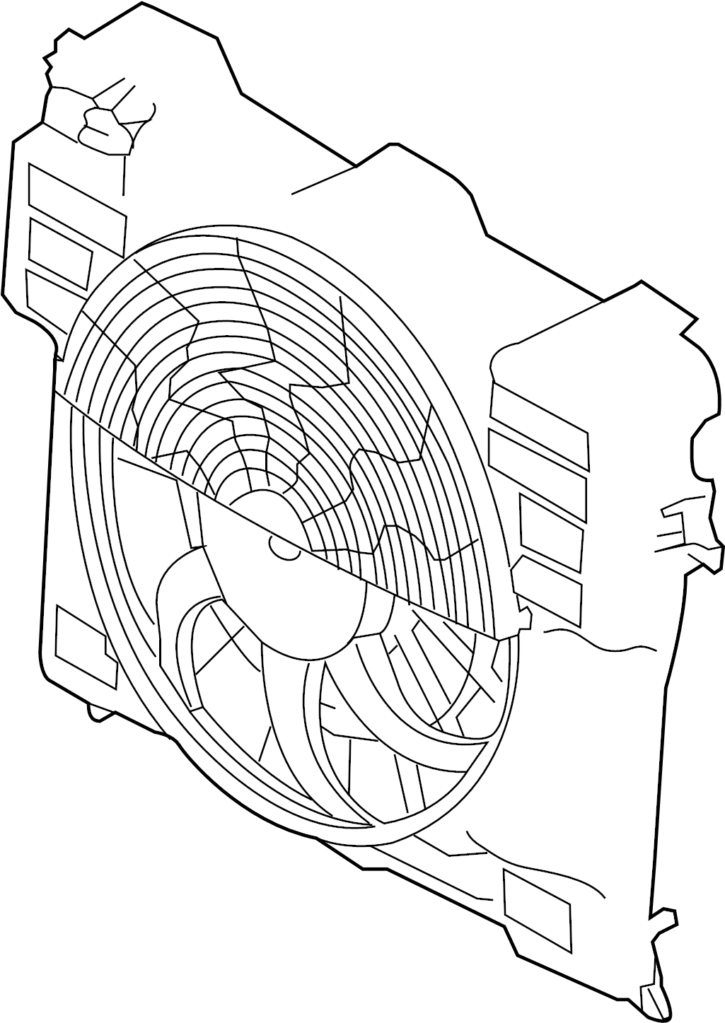 Land Rover Range Rover A C Condenser Fan Assembly