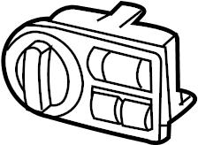 2012 Land Rover Range Rover Headlight switch. Manual