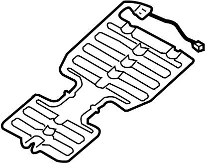 2006 Land Rover Range Rover Air Bag Seat Sensor Mat