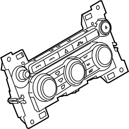 2013 Land Rover Range Rover Dash control unit. Heater