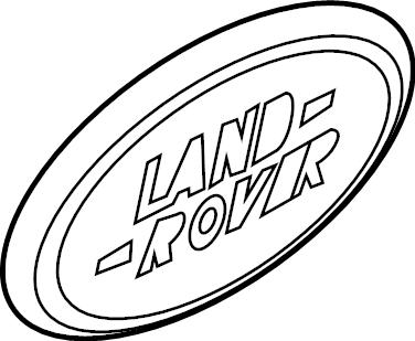 2017 Land Rover Range Rover Emblem. Decal. Hatch. License