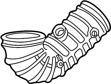2003 Land Rover Freelander Air outlet tube. Engine Air