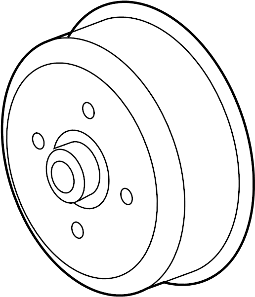 2007 Land Rover LR3 Engine Water Pump Pulley. PULLEY