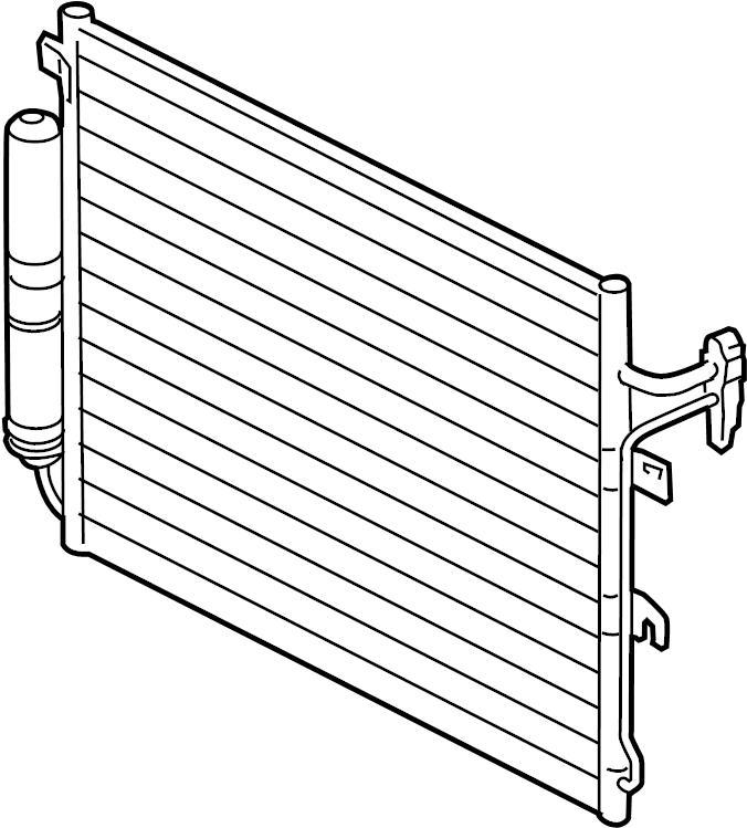 2006 Land Rover LR3 A/c condenser. Air conditioning (a/c