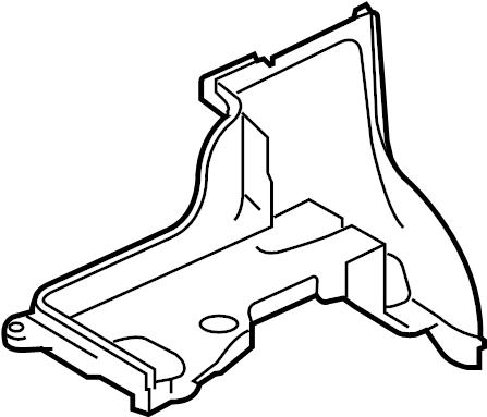 2007 Land Rover LR3 Battery box. Battery tray. Panel