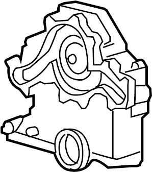 2006 Land Rover LR3 Engine Timing Cover (Front). Cover