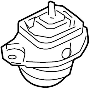 2006 Land Rover LR3 Engine Mount. FRONT MOUNT. Motor mount