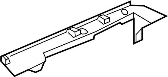 2006 Land Rover LR3 Package Tray Trim (Rear). Package Tray
