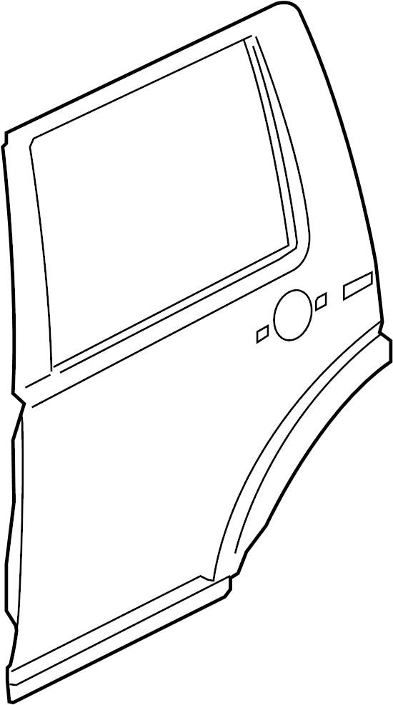 2015 Land Rover LR4 Door Shell (Rear). Door. Door Shell