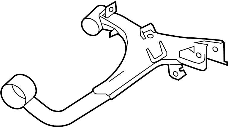 2006 Land Rover LR3 Suspension Control Arm (Rear, Upper