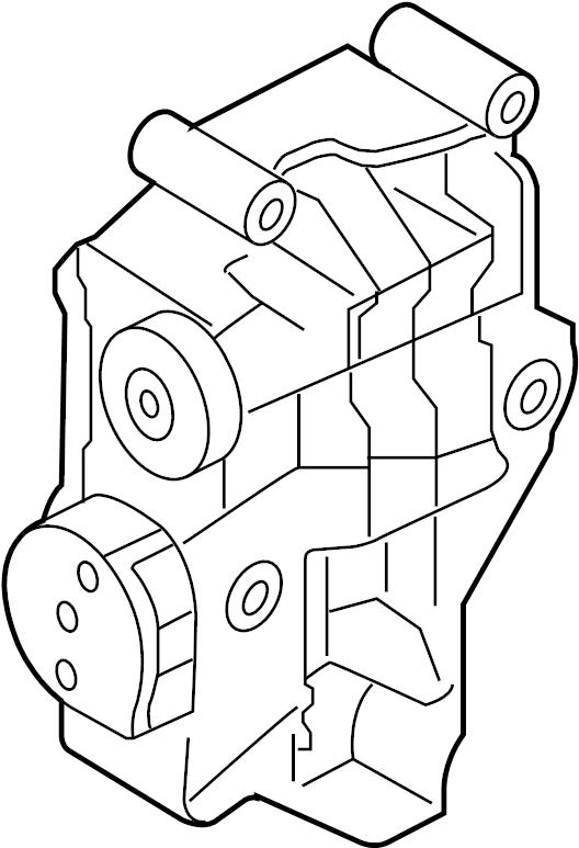 2006 Land Rover LR3 Alternator bracket. Mount bracket. 4.4
