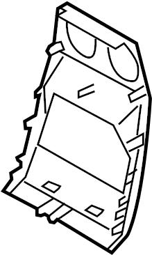 2006 Land Rover LR3 Console Trim Panel (Rear). Prep, Pkg