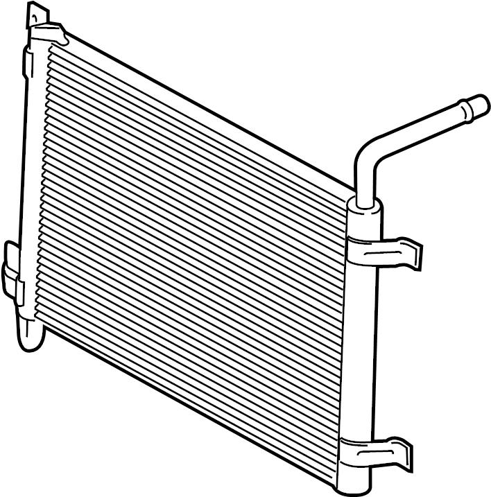 2016 Land Rover LR4 Auxiliary radiator. Intercooler. 5.0