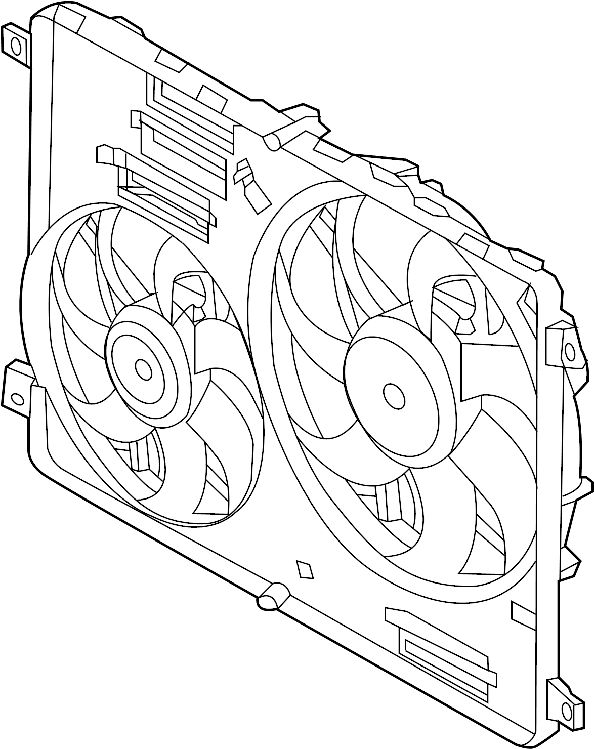 Land Rover Range Rover Evoque Engine Cooling Fan