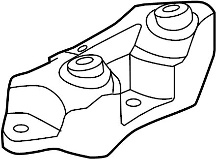 2014 Land Rover LR2 Automatic Transmission Mount. SUPPORT