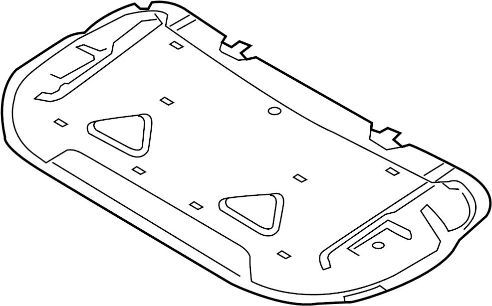 2017 Land Rover Range Rover Sport Hood Insulation Pad. SVR