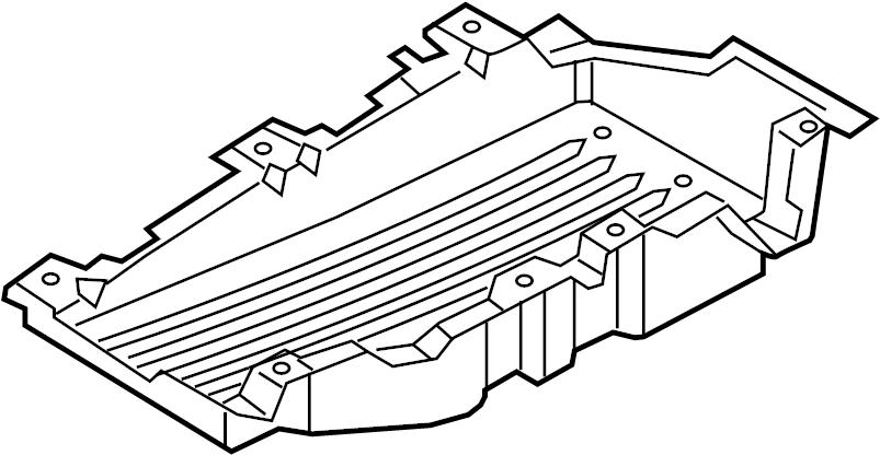 2016 Land Rover Range Rover Sport Floor Pan Splash Shield