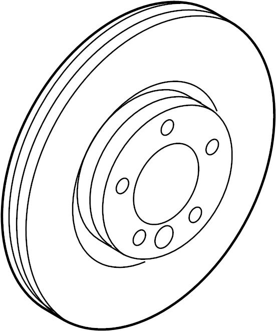 2019 Land Rover Range Rover Evoque Disc Brake Rotor. Left