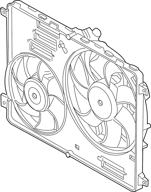 2012 Land Rover Range Rover Evoque Engine Cooling Fan