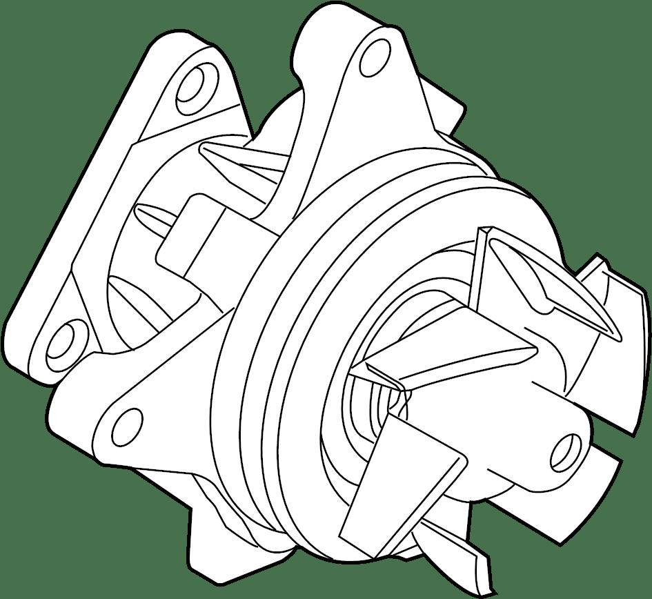 2014 Land Rover LR2 Pump. Water. Engine. 2.0 LITER. 2012