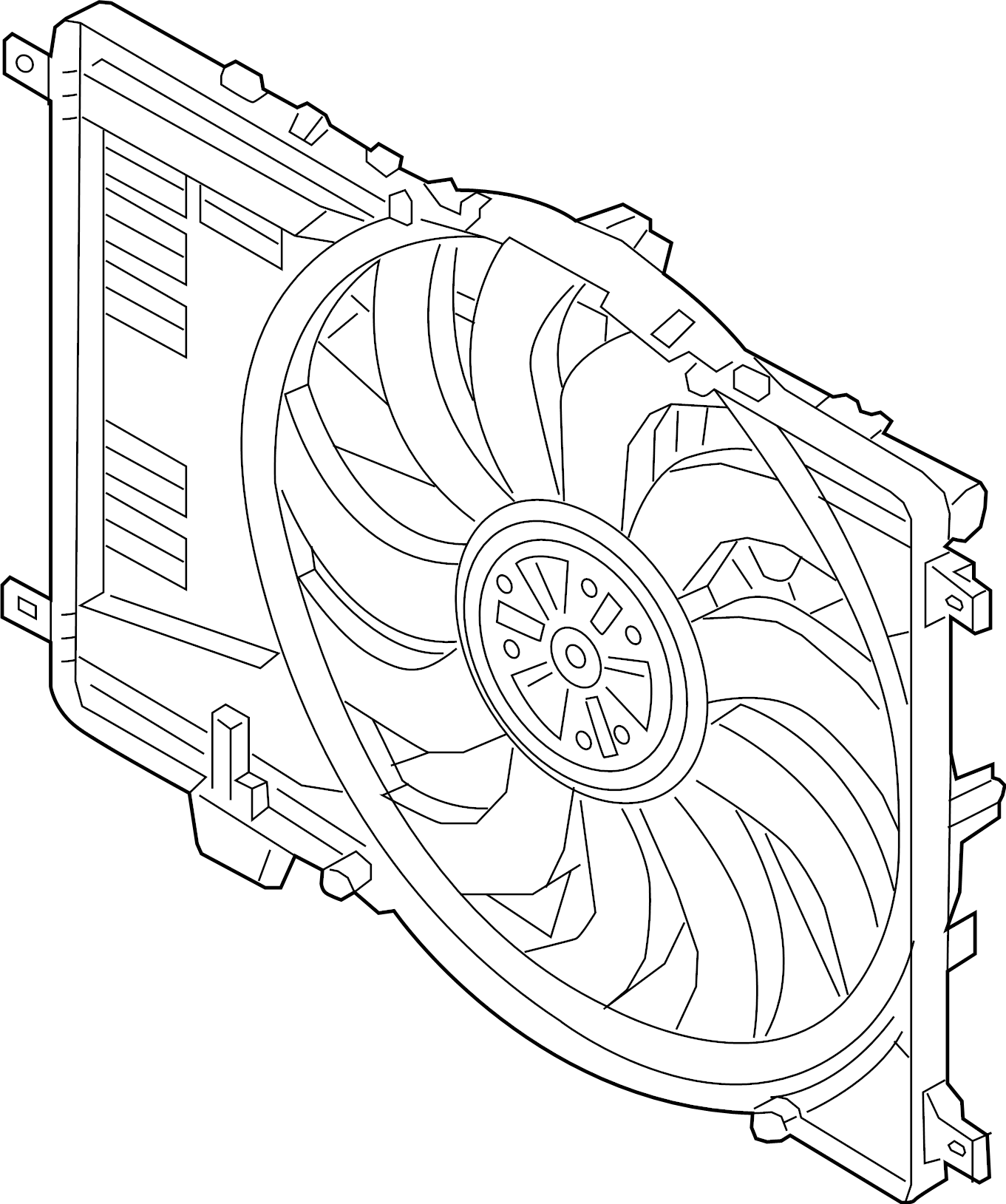 Land Rover Discovery Sport Engine Cooling Fan
