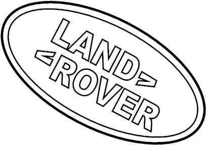 2017 Land Rover Discovery Sport Grille Emblem. Front, PKG