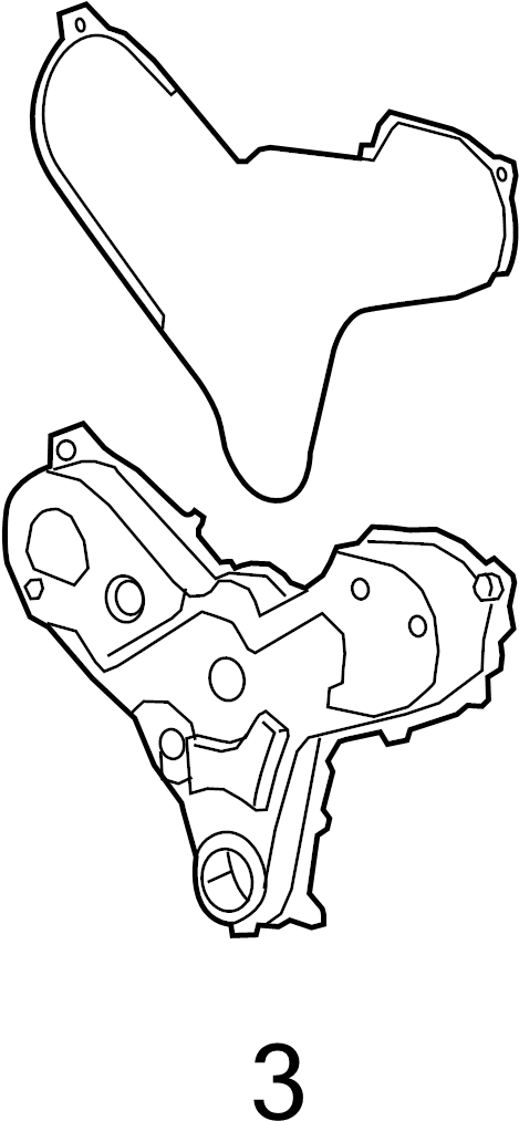 2017 Land Rover Range Rover Engine Timing Cover Gasket