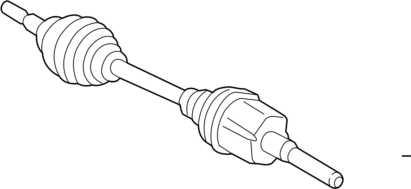 1996 Land Rover Discovery Cv axle shaft (front). Right