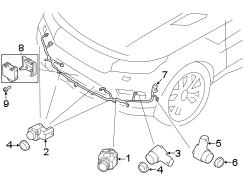 2018 Land Rover Range Rover Velar Parking Aid System