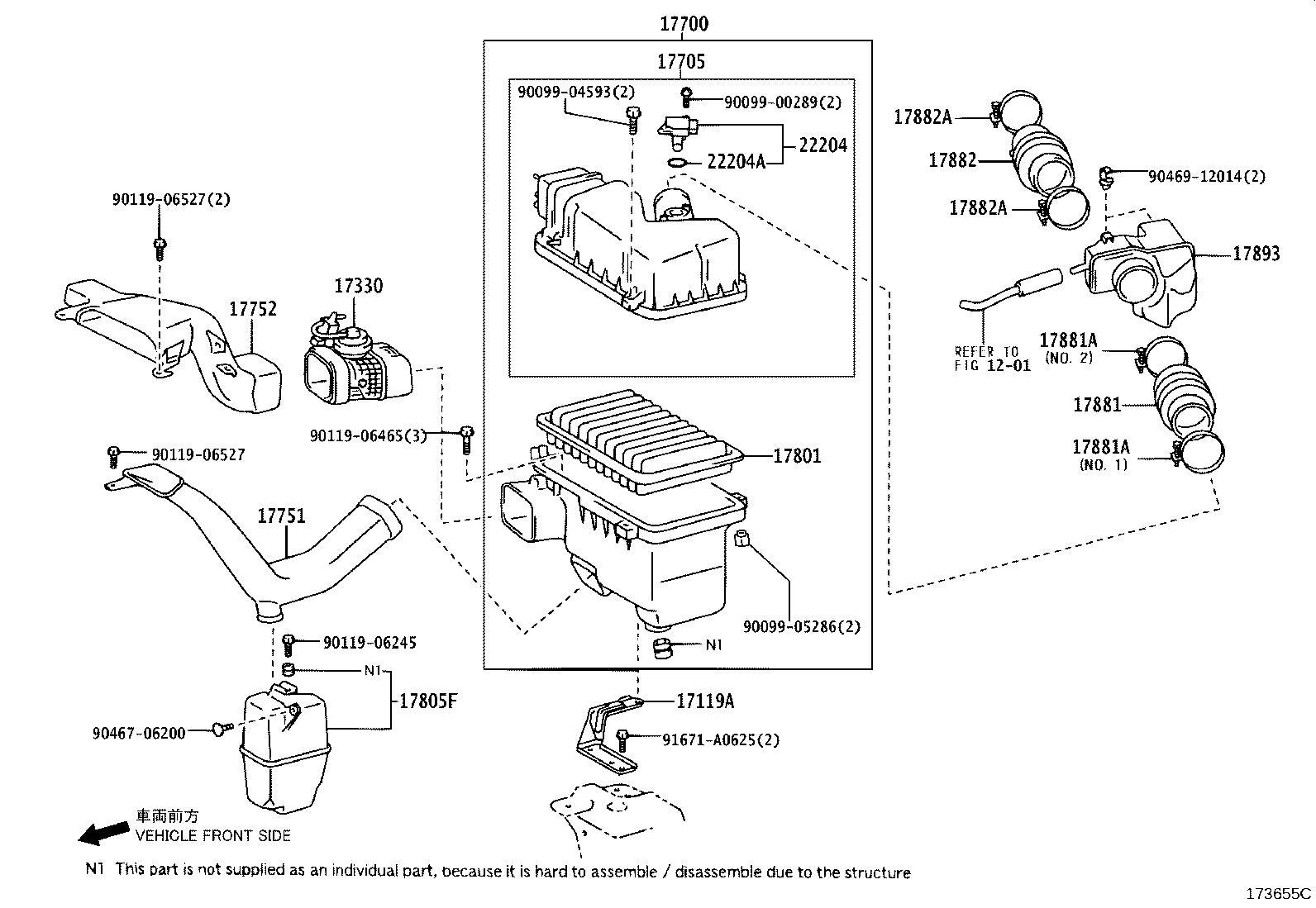 Lexus Mass Air Flow Sensor Meter Intake Air Flow