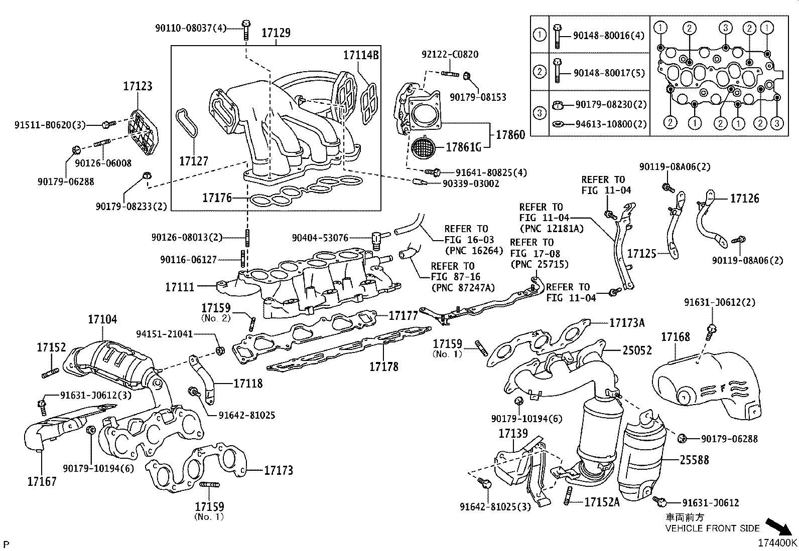 2008 Lexus Gasket, intake manifold to head, no. 1. Spec
