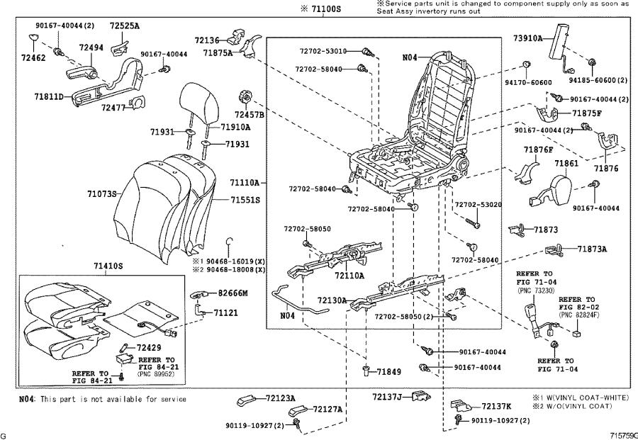 2006 Lexus Motor assembly. Power seat; power seat slide