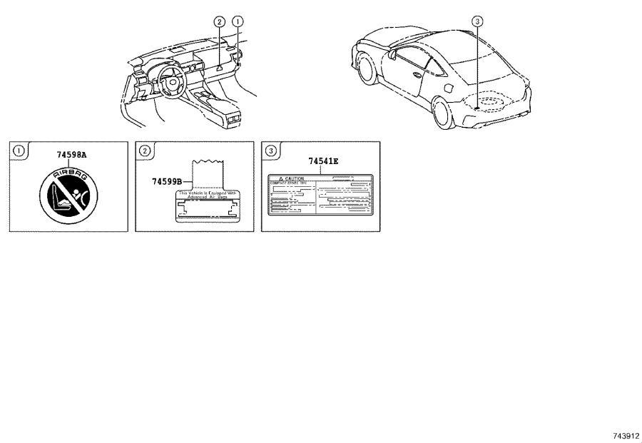 2021 Lexus Label. Side air bag caution; side air bag