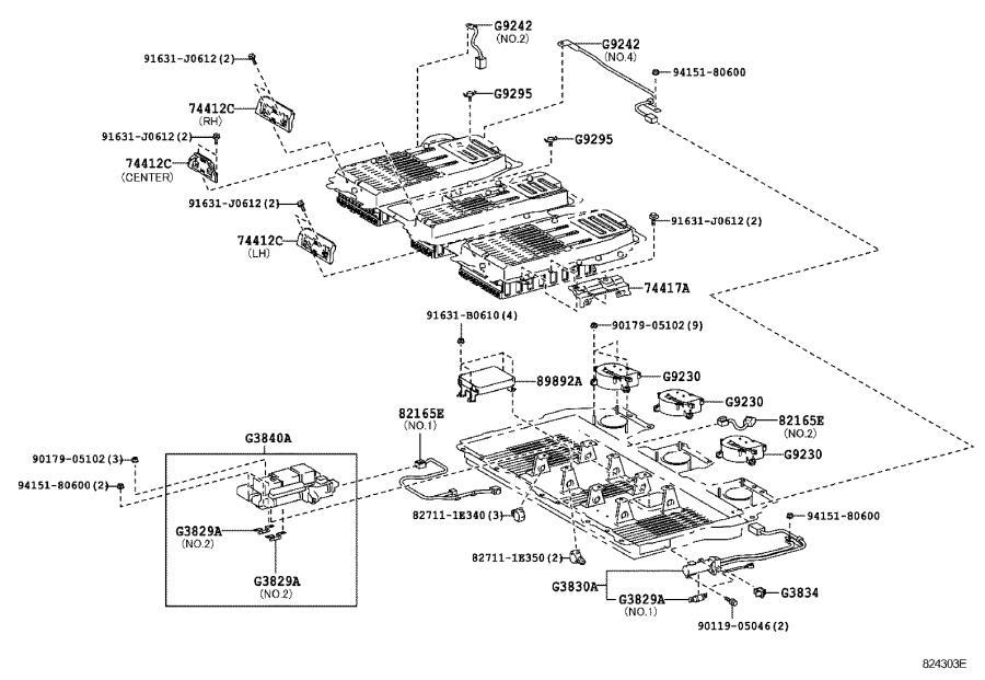 2006 Lexus RX 400h 3.3L Battery Cover. Insulator, Battery