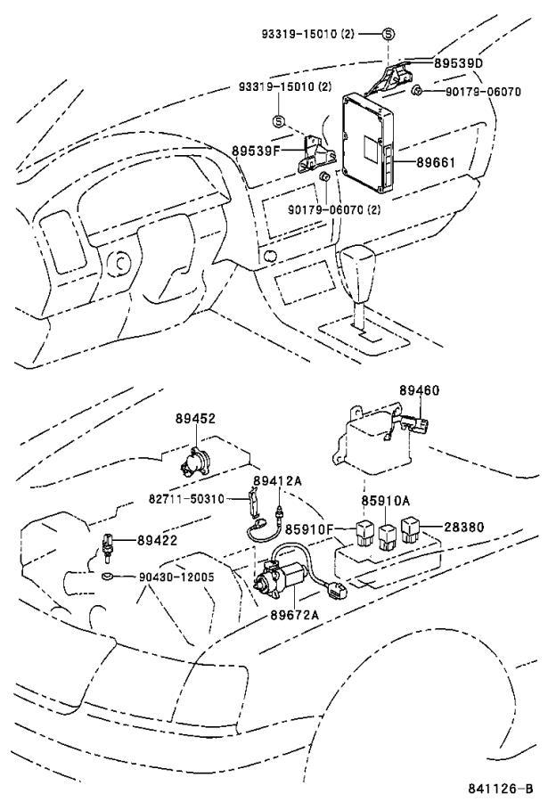 1999 Lexus LS 400 4.0L AT Throttle Position Sensor