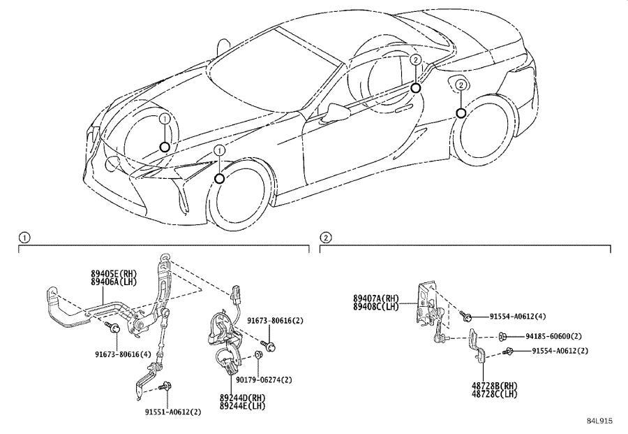 1991 Lexus Suspension Ride Height Sensor Bracket (Right