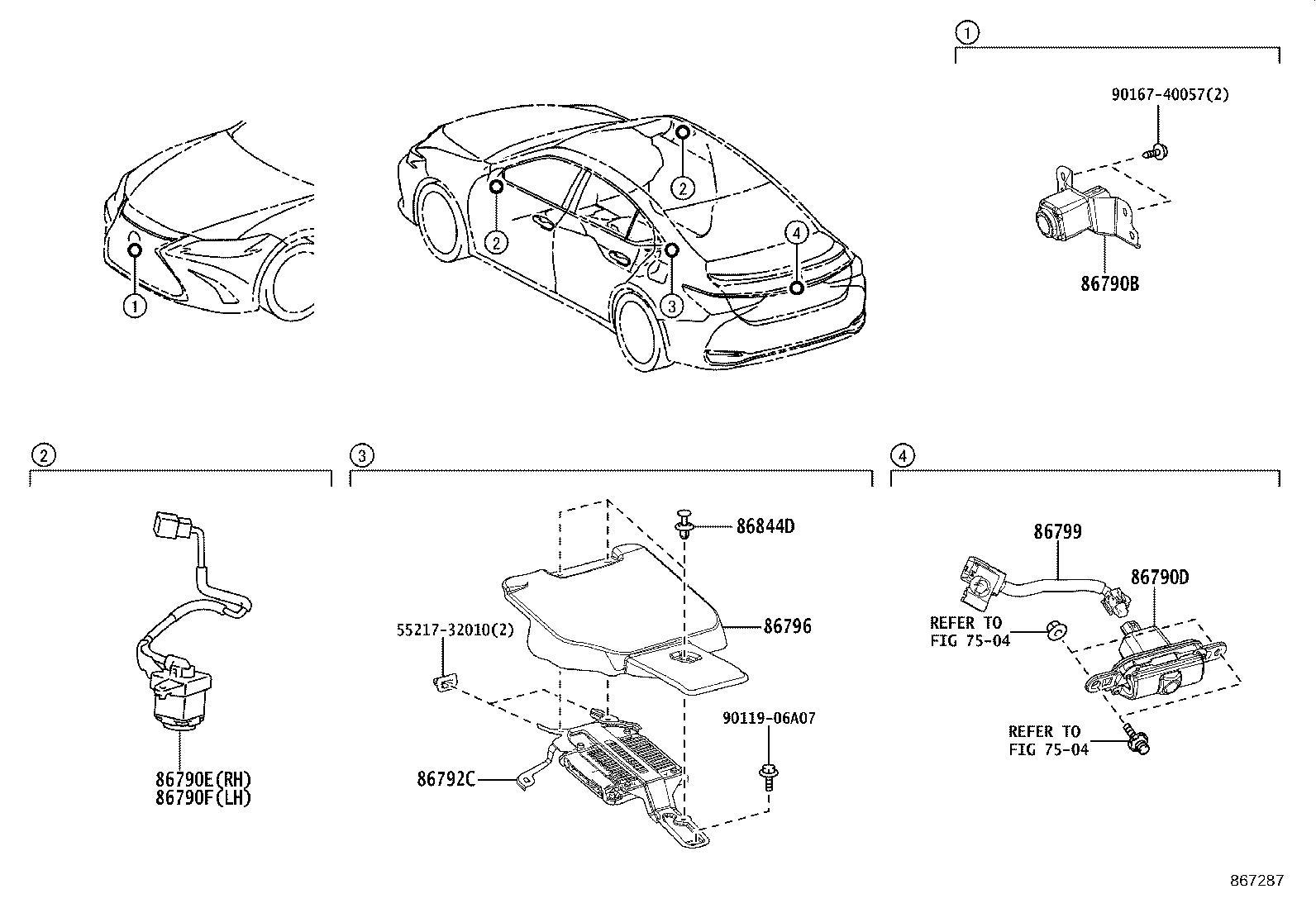 Lexus Es 350 Computer Parking Assist Monitor Back