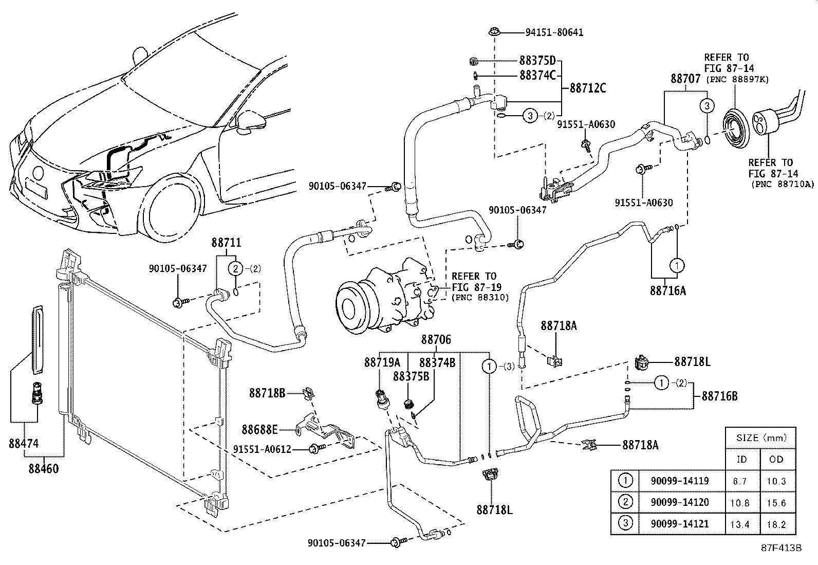 Lexus Pipe Sub Assembly Suction Conditioning Air