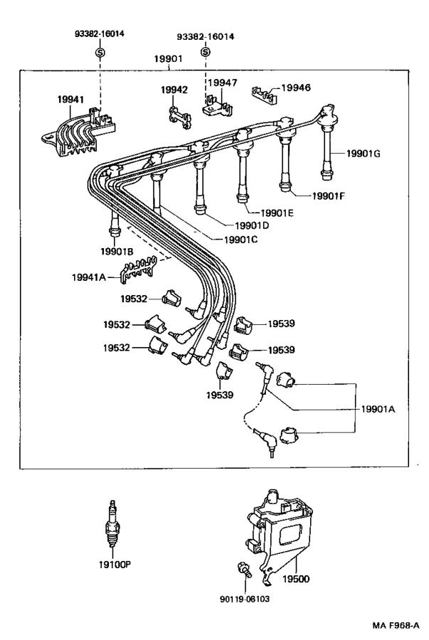 1996 Lexus Coil assembly, ignition. Plug, engine