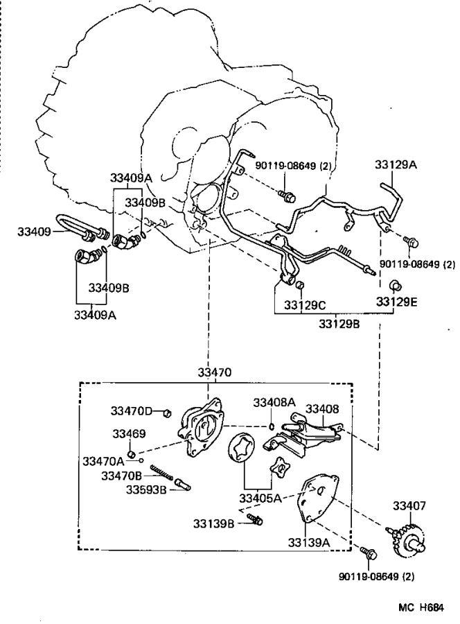 2016 Lexus Pump assembly, manual transmission oil. Mtm