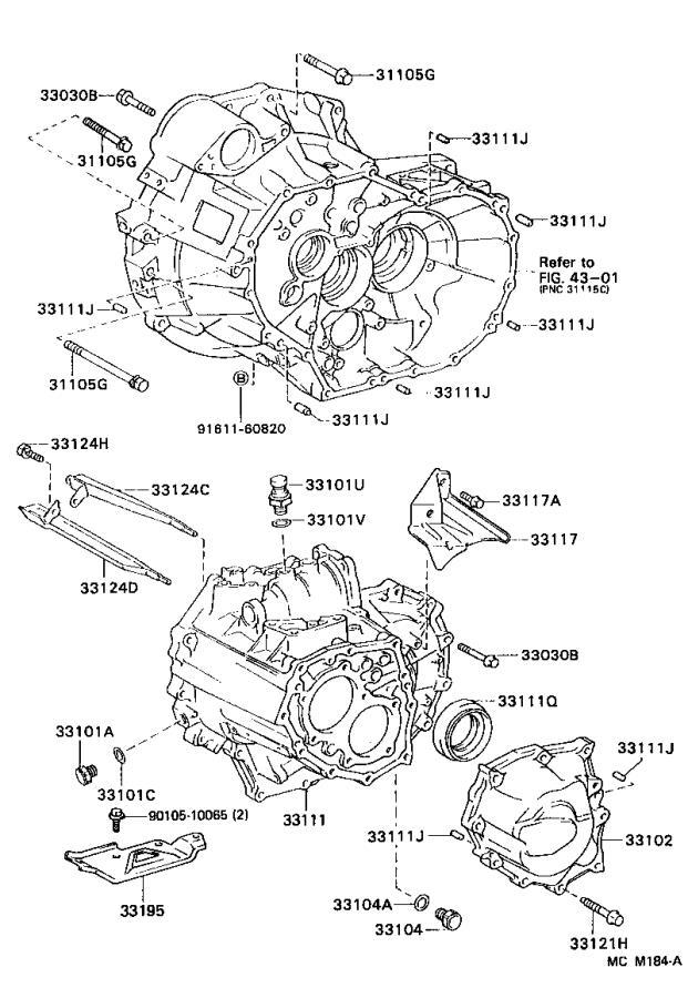 1998 Lexus Protector, manual transmission case. Mtm