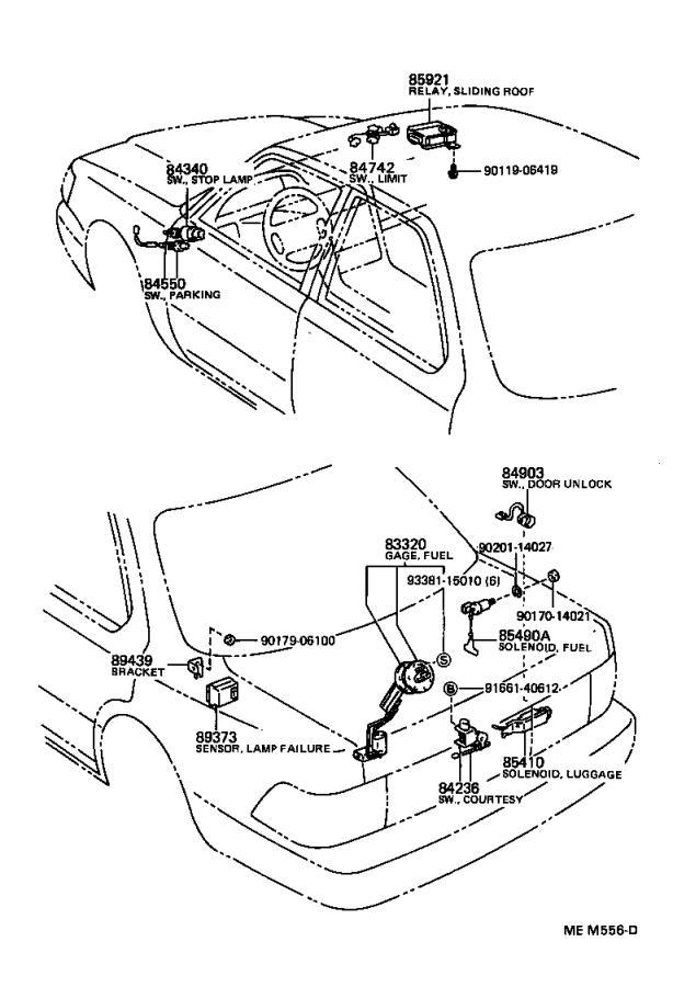 1994 Lexus Breaker assembly. Wiring circuit, no. 1; wiring